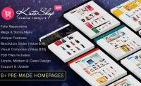 KuteShop – 响应式服装商城HTML5模板多风格模板